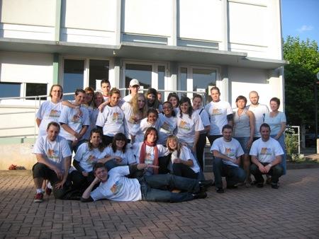 L'ensemble des 27 animateurs présents pour cette sortie Europa Park