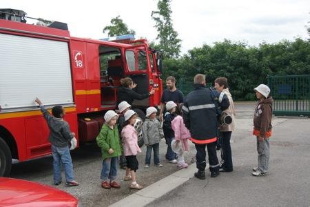 Les pompiers de Stiring-Wendel ont accueillis les enfants