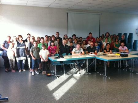 Parents, enfants, animateurs, organisateurs ... tous les participants réunis autour du projet !
