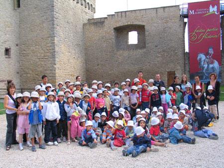 La visite guidée au château de Malbrouck