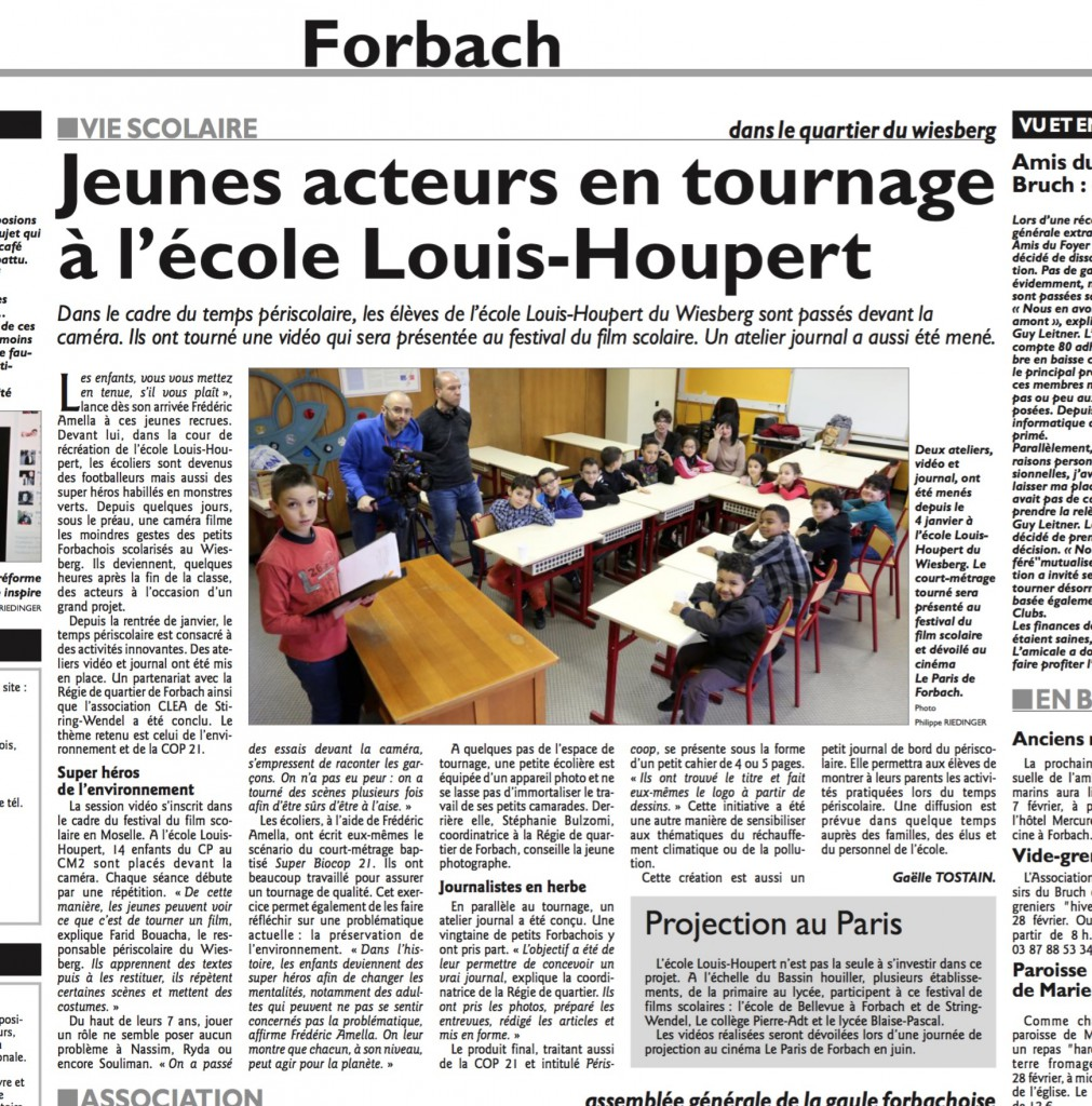 L'article du RL du 06/02/2016